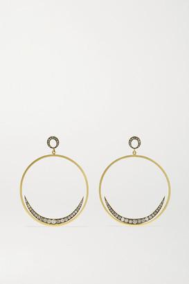 Sylva & Cie Crescent Moon 18-karat Gold Diamond Earrings