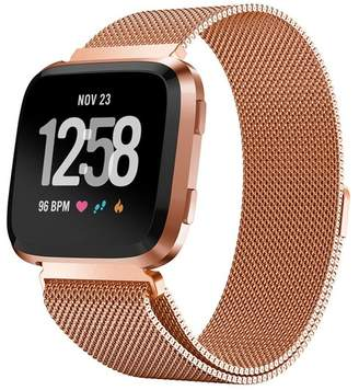 Fitbit POSH TECH Small Stainless Steel Band for Versa - Rose Gold