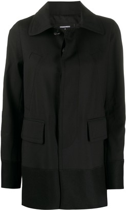 DSQUARED2 Logo-Tape Point-Collar Jacket