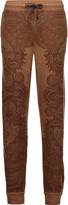 Etro Intarsia-knit cashmere slim-leg pants