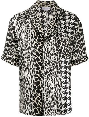 Pierre Louis Mascia Mix-Print Silk Shirt