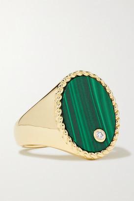 Yvonne Léon 9-karat Gold, Malachite And Diamond Ring - 4