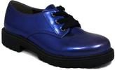 C Label Blue Rosalyn Platform Oxford