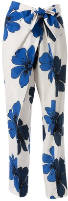 Chloé \N White Silk Trousers