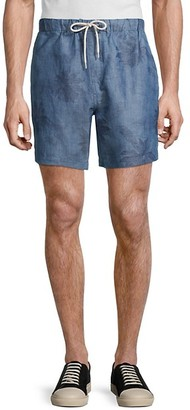 7 For All Mankind Drawcord Palm Linen-Blend Shorts