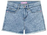 GUESS Acid Wash Denim Shorts with Frayed Edge