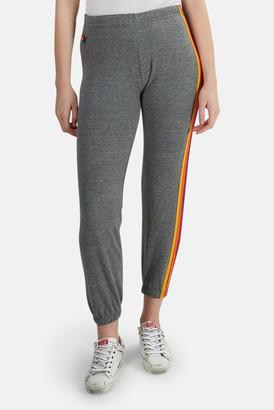 Aviator Nation Heather Grey 5 Stripe Sweatpants
