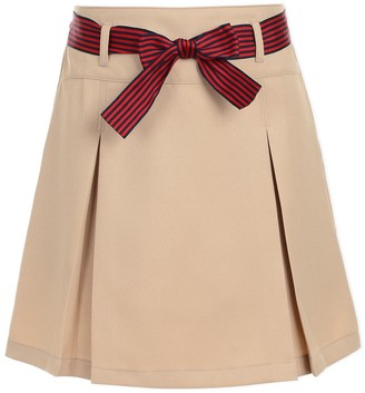 Nautica Uniform Striped Bow Pleated Scooter (Little Girls)