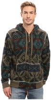 True Grit Vintage Mesa Cashmere Like Terry Zip Hood Jacket w/ Sherpa Lining
