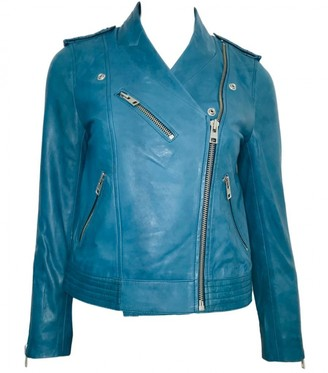 Zadig & Voltaire Blue Leather Jackets