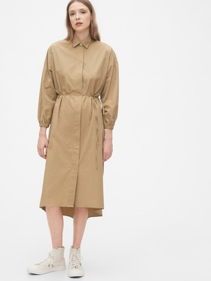 Gap Three-Quarter Sleeve Midi Shirtdress