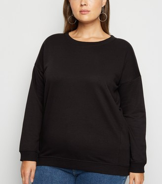 New Look Curves Crew Neck Sweatshirt
