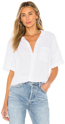 Frank And Eileen Short Sleeve Button Down Top