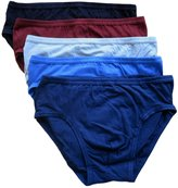 Jockey Life by Mens 100% Cotton Low Rise Briefs (5 Pack), Assorted Colors (Extra (40-42 Inch Waist))