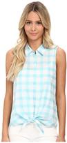 C&C California Windowpane Tie Front Shirt