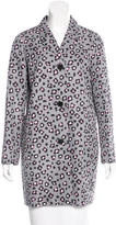 Kate Spade Printed Knee-Length Coat w/ Tags