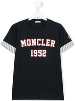 Moncler logo print T-shirt - kids - Cotton - 14 yrs