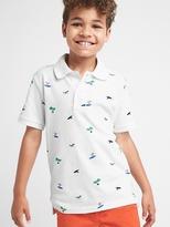 Gap Print short sleeves pique polo