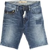 John Galliano Stretch Cotton Denim Shorts