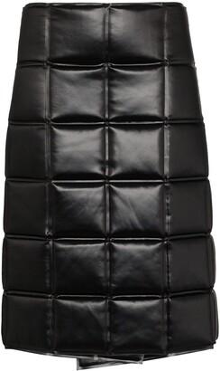 Bottega Veneta quilted wrap knee-length skirt