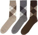 Howick 3 Pack Argyle Socks