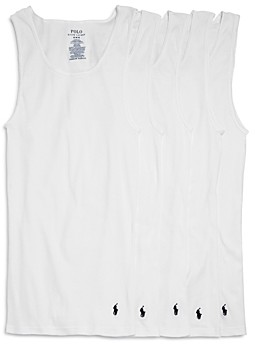 Polo Ralph Lauren Classic Fit Ribbed Tank Top - Pack of 5