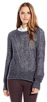 Sanctuary Women's All Day Marled Pullover Sweater