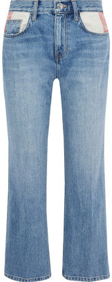 Current/Elliott The 5-pocket Vanessa Patchwork Mid-rise Straight-leg Jeans