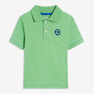 Joe Fresh Toddler Boys' Chest Graphic Polo, Green (Size 3)