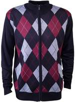 Pierre Cardin Mens New Season Zip Through Argyle Knitted Cardigan
