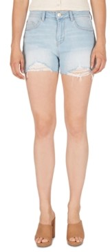 Numero High-Rise Distressed Denim Shorts