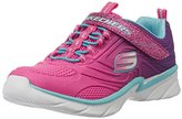 Skechers Swirly Girl Gore and Strap Sneaker (Little Kid/Big Kid/Toddler)