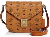 MCM Patricia Stud Trim Visetos Small Shoulder Bag