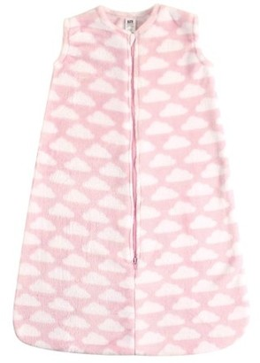 Hudson Baby Plush Wearable Blanket Safe Sleeping Bag - 6-12M - Microplush Pink Clouds
