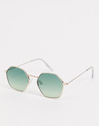 Burton Menswear round sunglasses with green lens