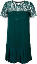Twin-Set lace embroidered shift dress