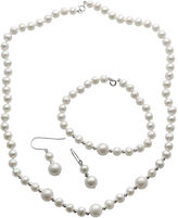 JCPenney FINE JEWELRY Cultured Freshwater Pearl 3-pc. Boxed Jewelry Set