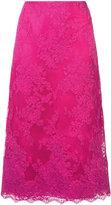 Marchesa A-line midi lace skirt - women - Silk/Cotton - 8