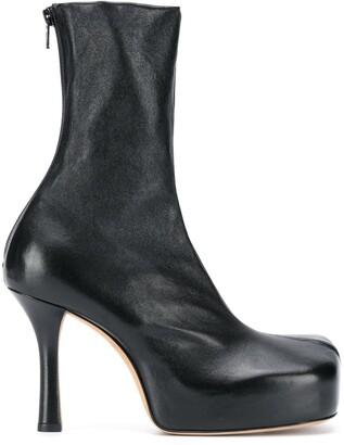 Bottega Veneta Square Toe Ankle Boot