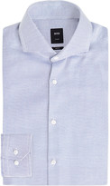 HUGO BOSS Geometric-patterned slim-fit cotton shirt