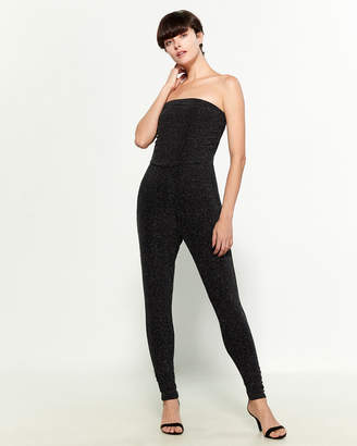 Almost Famous Strapless Shimmer Jumpsuit