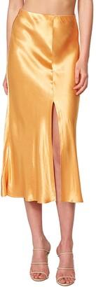 Bardot Satin Slip Skirt