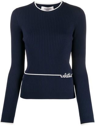 Valentino Embroidered Logo Jumper