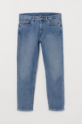 H&M Slim Cropped Selvedge Jeans - Blue