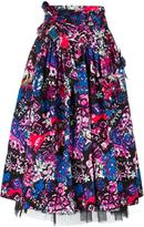 Marc Jacobs Daisy belted skirt - women - Silk/Cotton/Polyester/Spandex/Elastane - 6