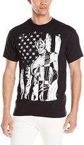 Marvel Men's Captain America Black and White T-Shirt