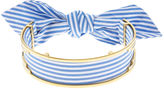 Monica Sordo Blue & White Stripe Bandita Cuff Choker