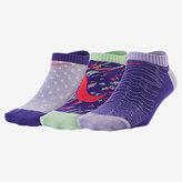 Nike Graphic Lightweight No-Show Kids' Socks (3 Pair)