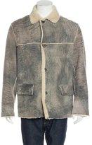 John Varvatos Distressed Shearling Jacket