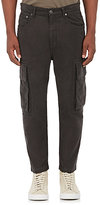 Helmut Lang Men's Cotton Moleskin Cargo Pants-GREY